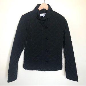 Calvin Klein black quilted coat